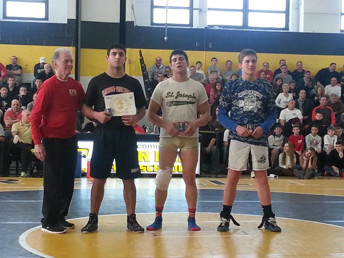 Robbie was awarded the Sgt. Christopher Hrbek Wrestling Award following his win at the District Finals.