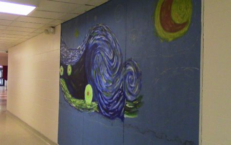 The Starry Night in the hallways of EHS