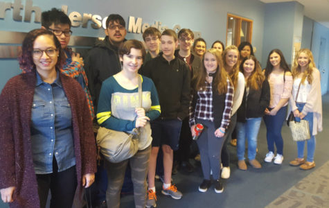 Journalism students learn reporting tips from staff at The Record headquarters